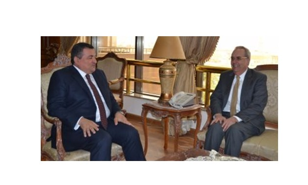Chairman of the Egyptian Media Production City (EMPC) Osama Heikal received Wednesday US Chargé d'Affaires in Cairo Thomas Goldberger - Egypt Today