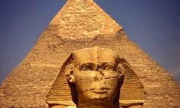 Giza Pyramids and Sphinx-File Photo