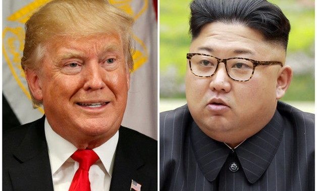 A combination photo shows U.S. President Donald Trump in New York, U.S. September 21, 2017 and North Korean leader Kim Jong Un in this undated photo released by North Korea's Korean Central News Agency (KCNA) in Pyongyang, REUTERS/Kevin
