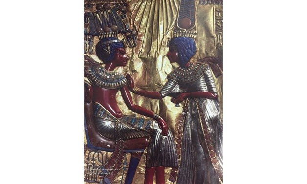 King Tutankhamen and Queen Ankhesenamun [Fragmented from Zahi Hawas' book]
