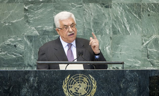 Palestinian President, Mahmoud Abbas addressing the United Nations General Assembly - UN Photo - J Carrier