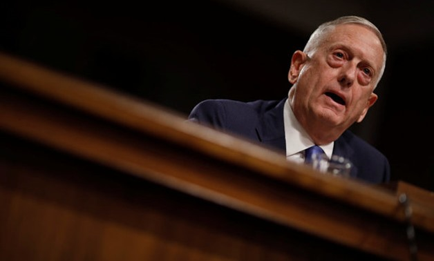 "U.S. Secretary of Defense James Mattis testifies before a Senate Armed Services Committee hearing on the ""Political and Security Situation in Afghanistan"" on Capitol Hill in Washington - REUTERS"