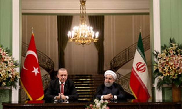 urkish President Erdogan and his Iranian counterpart Rouhani hold a joint news conference in Tehran - REUTERS