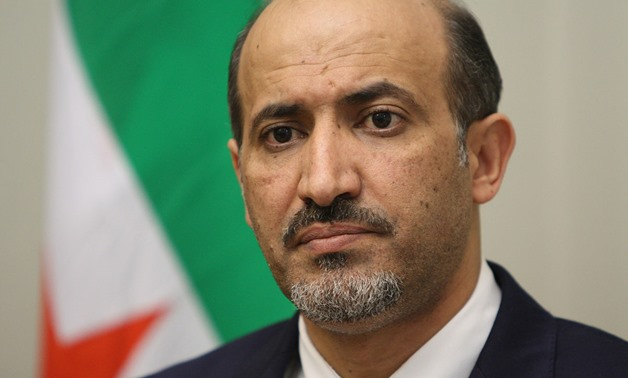 The leader of the Syrian opposition wing Al-Ghad Al-Souri (Syrian Tomorrow) Ahmed al-Jarba – Reuters