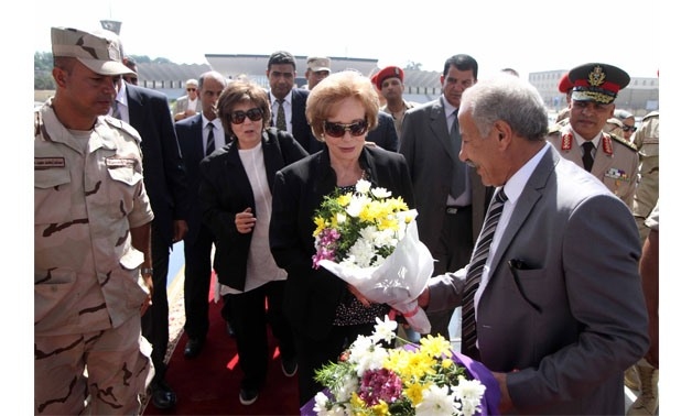 ihan al Sadat during her visit to Muhammad Anwar el-Sadat and the 'unknown soldier' tombs, 6 October 2017 – Hassan Mohammed