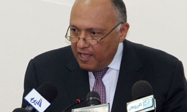 Foreign Minister Sameh Shoukry - File photo