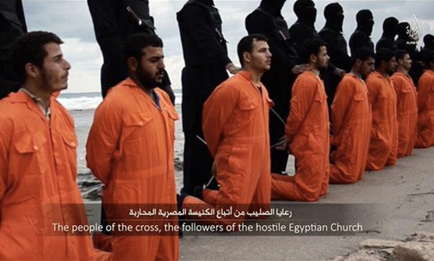 Christian Egyptians prior to their murder by IS militants in Libya – File Photo