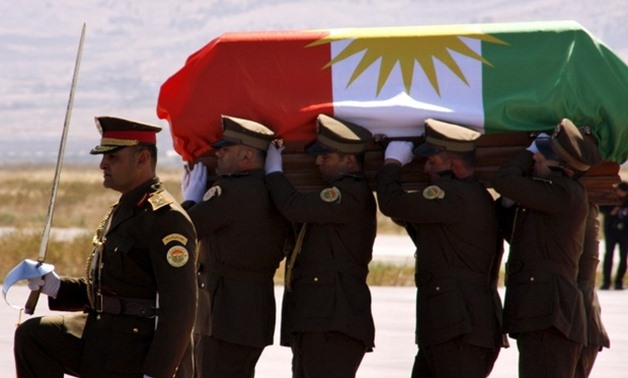 Row breaks out in Iraq over Kurdish flag on Talabani coffin