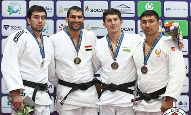 caption Ramadan Darwesh after won the golden medal– Press image courtesy International Judo Federation