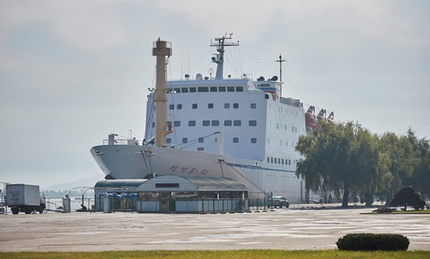 The Mangyongbong 92 ferry is seen docked in central Wonsan - REUTERS