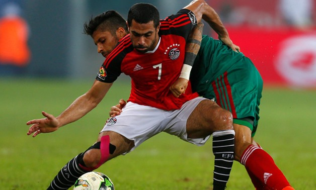 Ahmed Fathy with the Egyptian red shirt, REUTERS