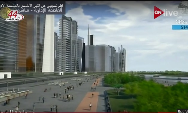 Screenshot of the New Capital's presentation made by Minister of Housing Mostafa Madbouly