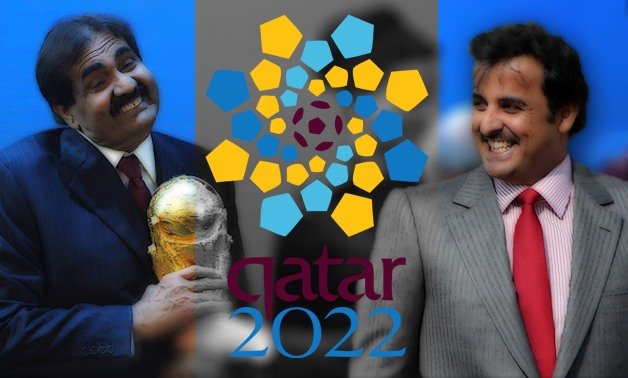 "A row broke out on Friday over whether Qatar's staging of the 2022 World Cup was under threat after a report warning of ""an increasing political risk"" to the tournament was leaked – Photo compiled by Egypt Today/Mohamed Zain"