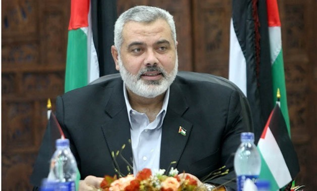 The head of Hamas political bureau, Ismail Haniyeh - File Photo