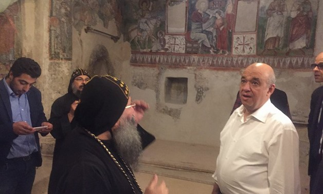 Photo of Egyptian Tourism Minister checking Monasteries visited by the Holy Family – File Photo