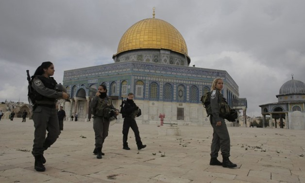 "Al-Aqsa Mosque As ""Unacceptable"". Archive photo of Israeli police forces in the old city of Jerusalem. REUTERS/Am"