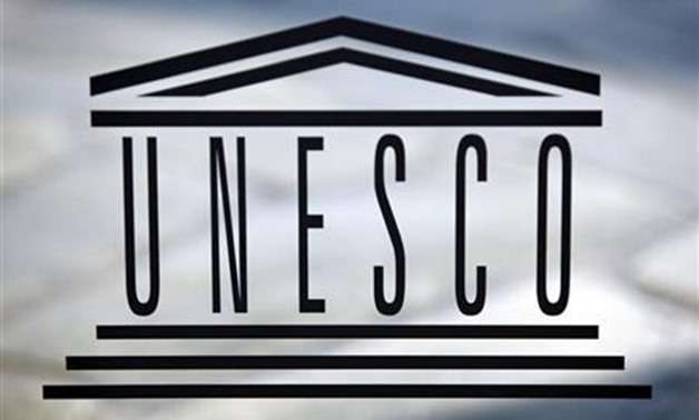 The logo of the UNESCO is seen inside at the headquarters in Paris on September 22,2009. REUTERS/Charles PlatiauT