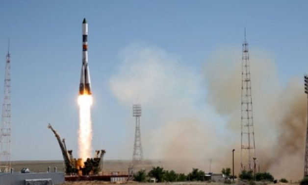 Russia's Progress M-28M cargo ship blasts off from the launch pad at the Russian-leased Baikonur cosmodrome in Kazakhstan on July 3, 2015