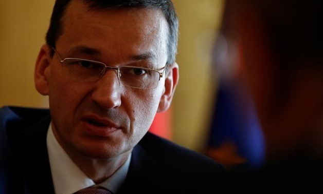 Mateusz Morawiecki speaks at the Reuters Central & Eastern Europe Investment Summit at his office in Warsaw, Poland May 25, 2017. REUTERS/Kacper Pempel