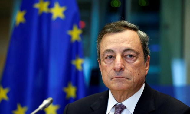 European Central Bank (ECB) President Mario Draghi waits to address the European Parliament's Economic and Monetary Affairs Committee in Brussels, Belgium September 25, 2017. REUTERS/Francois Lenoir