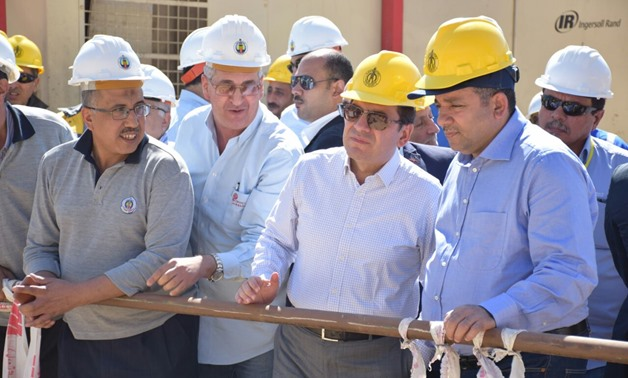 Minister of Petroleum Tarek El-Molla checking on Zohr field Sunday- Press Photo