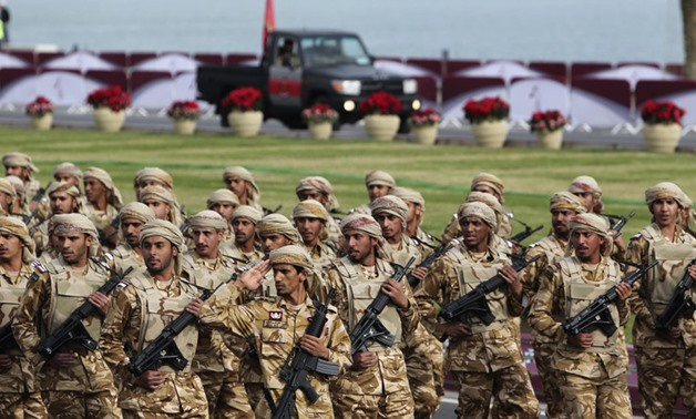 Members of the Qatari Armed Forces take part in a military parade during National Day celebrations in Doha- Reuters