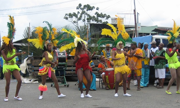 Calypso dancers via Wikimedia Commons
