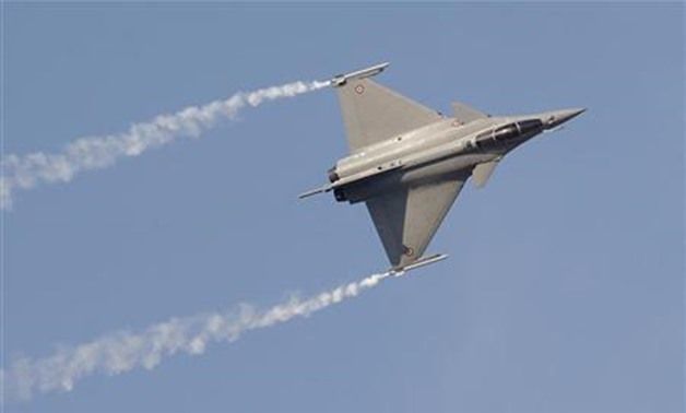 File- A Rafale fighter jet performs during the first day of the Dubai Airshow - REUTERS