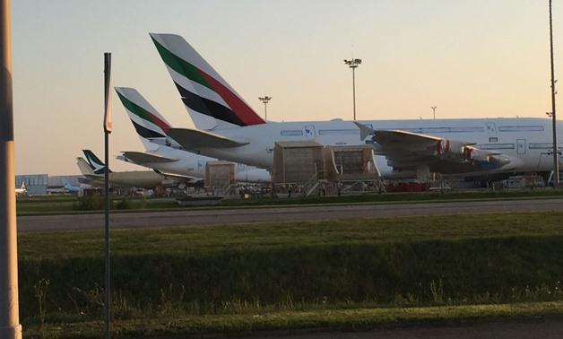 A photo of Airbus' Emirati airplanes - Photo by Ahmed Moustafa, Egypt Today