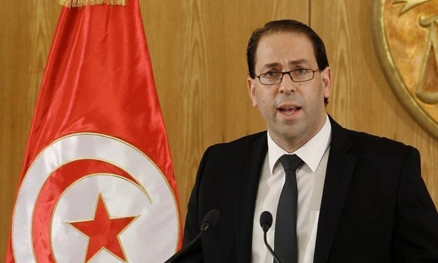 Tunisia's Prime Minister-designate Youssef Chahed speaks during a news conference after his meeting with Tunisia's President Beji Caid Essebsi -- REUTERS