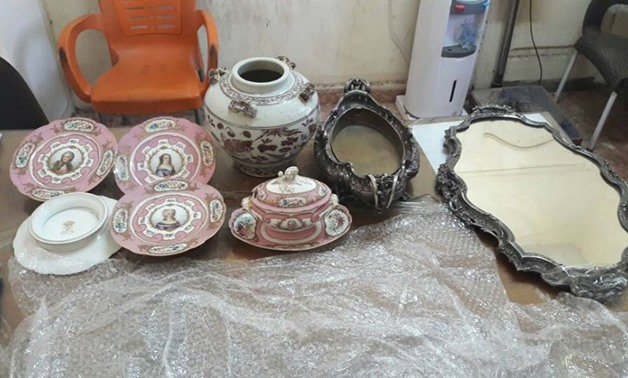 Historical ceramic plates [Photo: Ministry of Antiquities Official Facebook page]