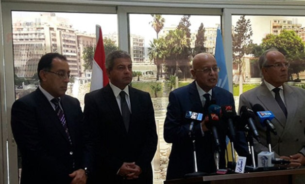 PM during press confrance held in Alexandria Thursday - press photo