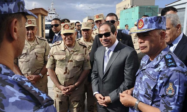Sisi attends navy exercise in Alexandria - Press Photo