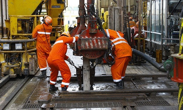 Works on Zohr project- Photo courtesy of Eni website