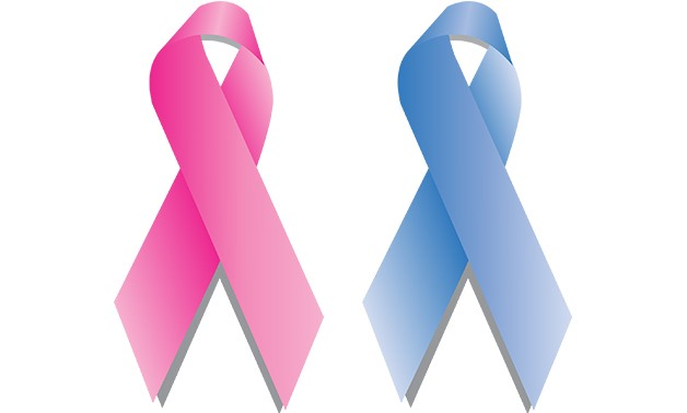 Pink and blue breast cancer ribbons - photo via Max Pixel