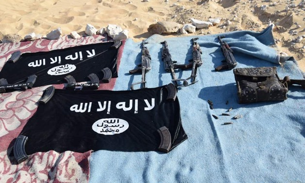 One of the terrorist camps in the western Desert. File photo