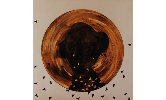 "One of the ""Circle"" paintings by Doaa Abd El Hady [photo: Doaa Abd El Hady]"