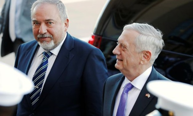 Mattis welcomes Israel's Lieberman for meetings at the Pentagon in Washington - REUTERS