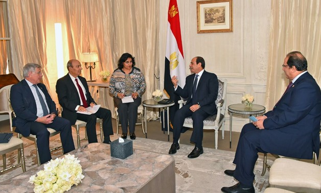 1.	President Abdel Fatah al-Sisi received on Monday the CEO of Dassault Group for aeronautical industries -  File photo