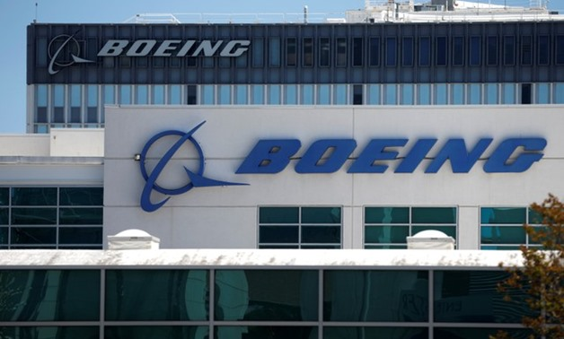 The logo of Dow Jones Industrial Average stock market index listed company Boeing (BA) is seen in Los Angeles - REUTERS
