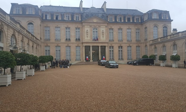 Official reception to President Abdel Fatah al-Sisi outside the Elysee Palace Tuesday Oct. 24, 2017 - Photo by Mohamed el-Galy / Egypt Today