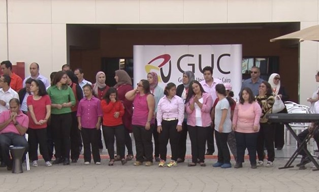 The concert presented by young people with special needs at GUC – Official Facebook Page