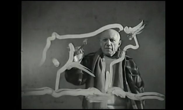 Picasso at work, courtesy of HistoMephistix's YouTube Channel