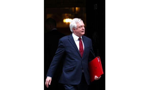 David Davis, Britain's Secretary of State for Exiting the European Union, leaves 10 Downing Street in London, Britain, October 17, 2017. REUTERS