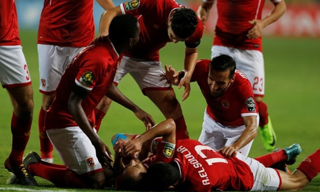 Al Ahly players celebrate,  REUTERS