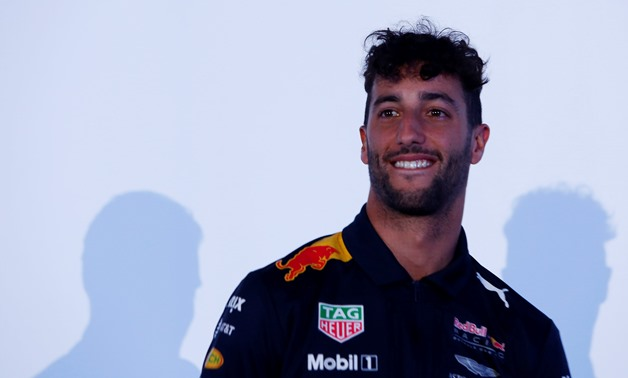 Red Bull Formula One driver Daniel Ricciardo of Australia, reacts during a private event ahead of the Mexican F1 Grand Prix in Mexico City– Press image courtesy Reuters