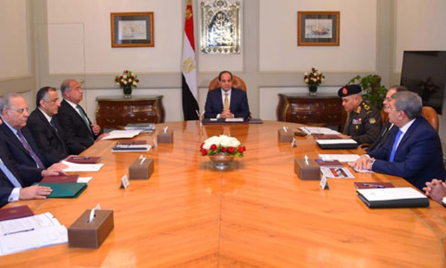 President Abdel Fatah al-Sisi held a meeting including the high security officials - File Photo