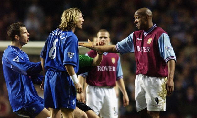 Dion Dublin of Aston Villa and Robbie Savage of Birmingham in the Second City Derby, Sky Sports