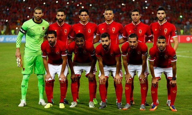 Al Ahly players pose for the pre match photograph REUTERS