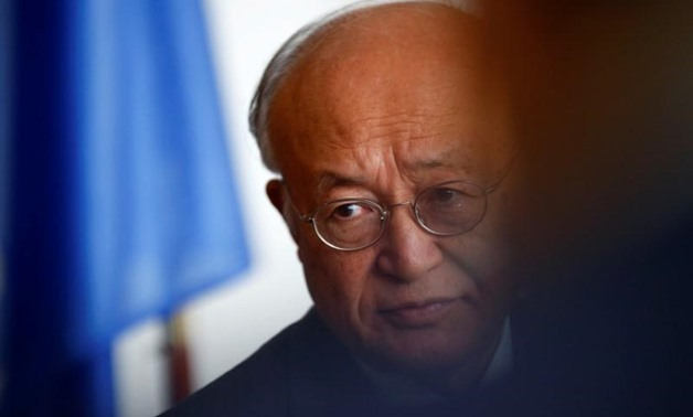 International Atomic Energy Agency (IAEA) Director General Yukiya Amano listens during an interview with Reuters at the IAEA headquarters in Vienna, Austria September 26, 2017. REUTERS/Leonhard Foeger
